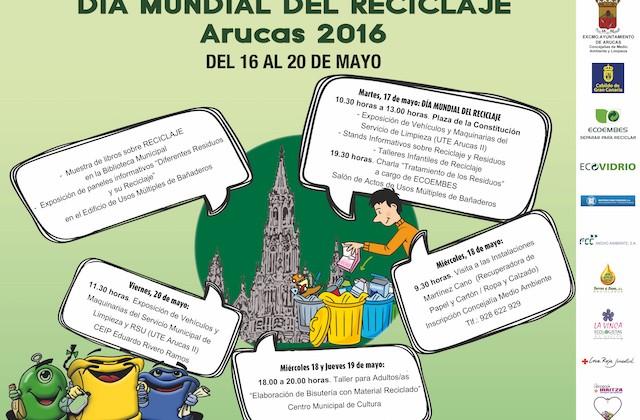 CARTEL DÍA MUNDIAL DEL RECICLAJE ARUCAS 2016