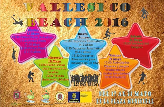 cartel VALLESECO BEACH