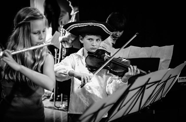 Alumnos de música. Foto: El Norte Hoy